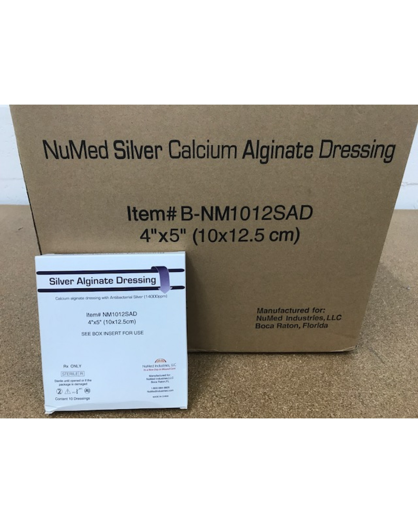 NuMed Silver Alginate Dressing-Bulk Packaged